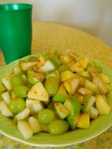 green fruit salad